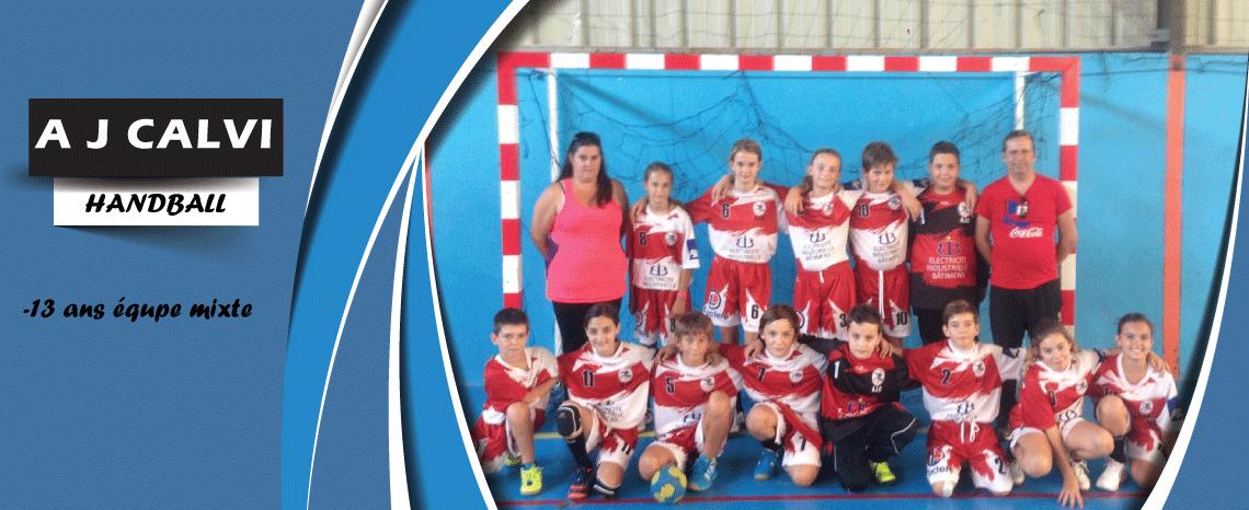 AJ CALVI Handball -13ans mixte
