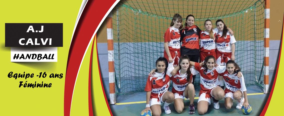 AJ CALVI Handball -16ans féminine